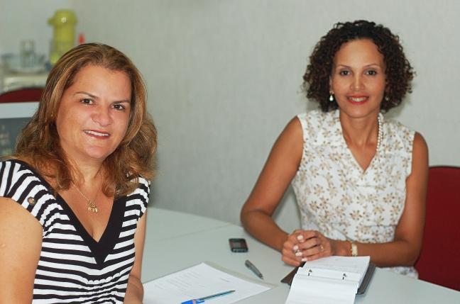 A Secretária de Desenvolvimento Social, Trabalho e Renda de Búzios, Cristina Braga, recebeu em seu gabinete a gerente regional de Trabalho e Renda do MTE-CF, Tania de Oliveira